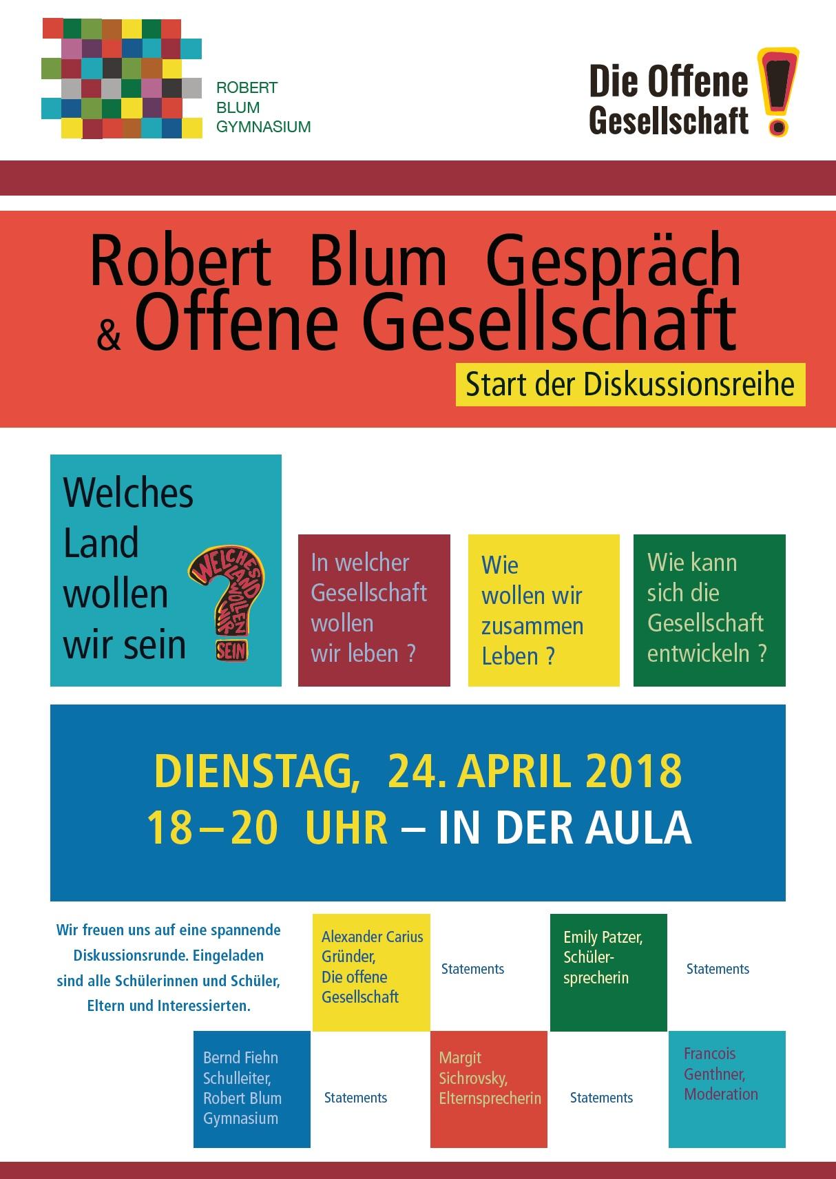 Robert Blum Gespräch